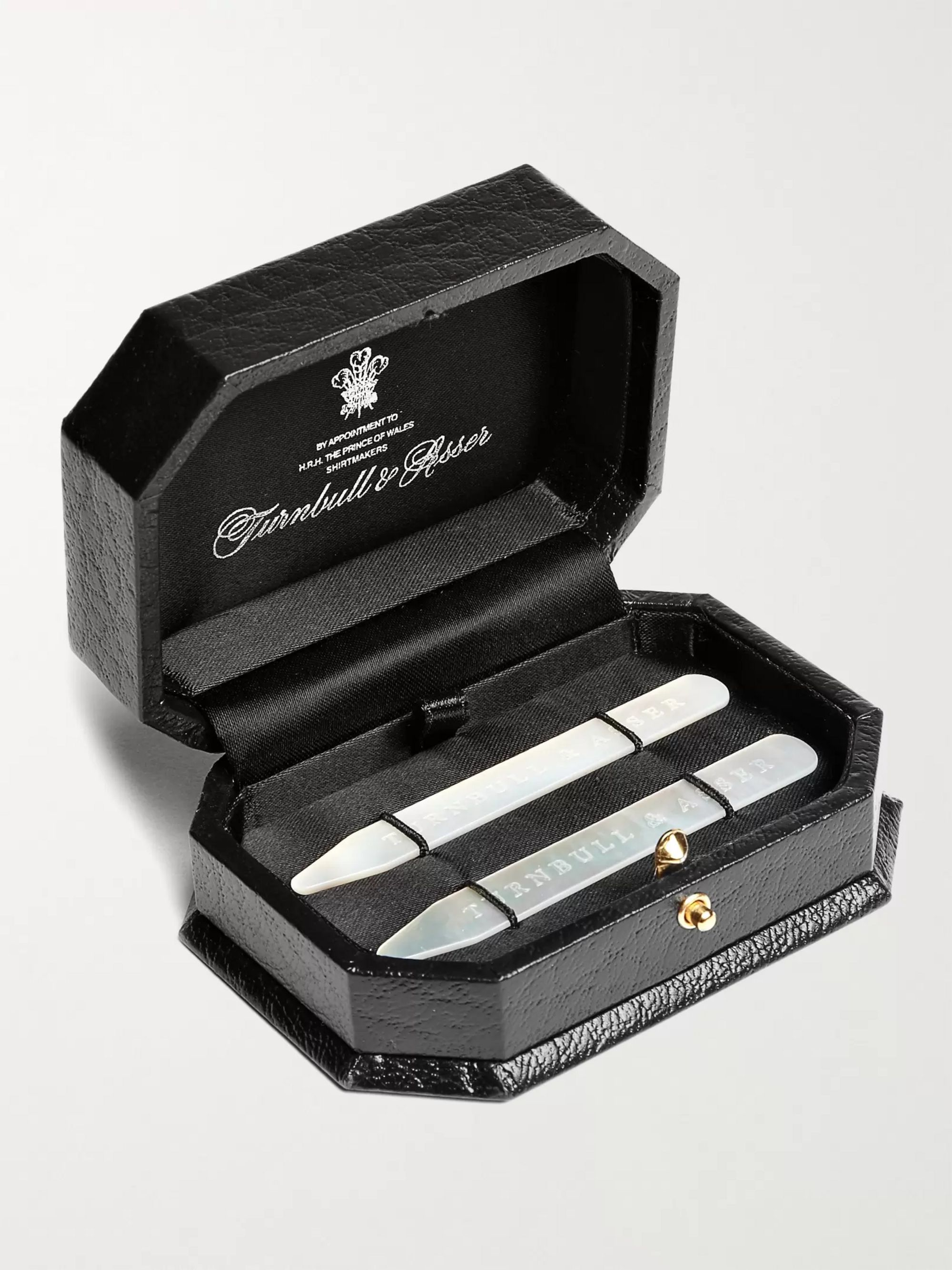 Turnbull & Asser Set-of-Two Mother-of-Pearl Collar Stays