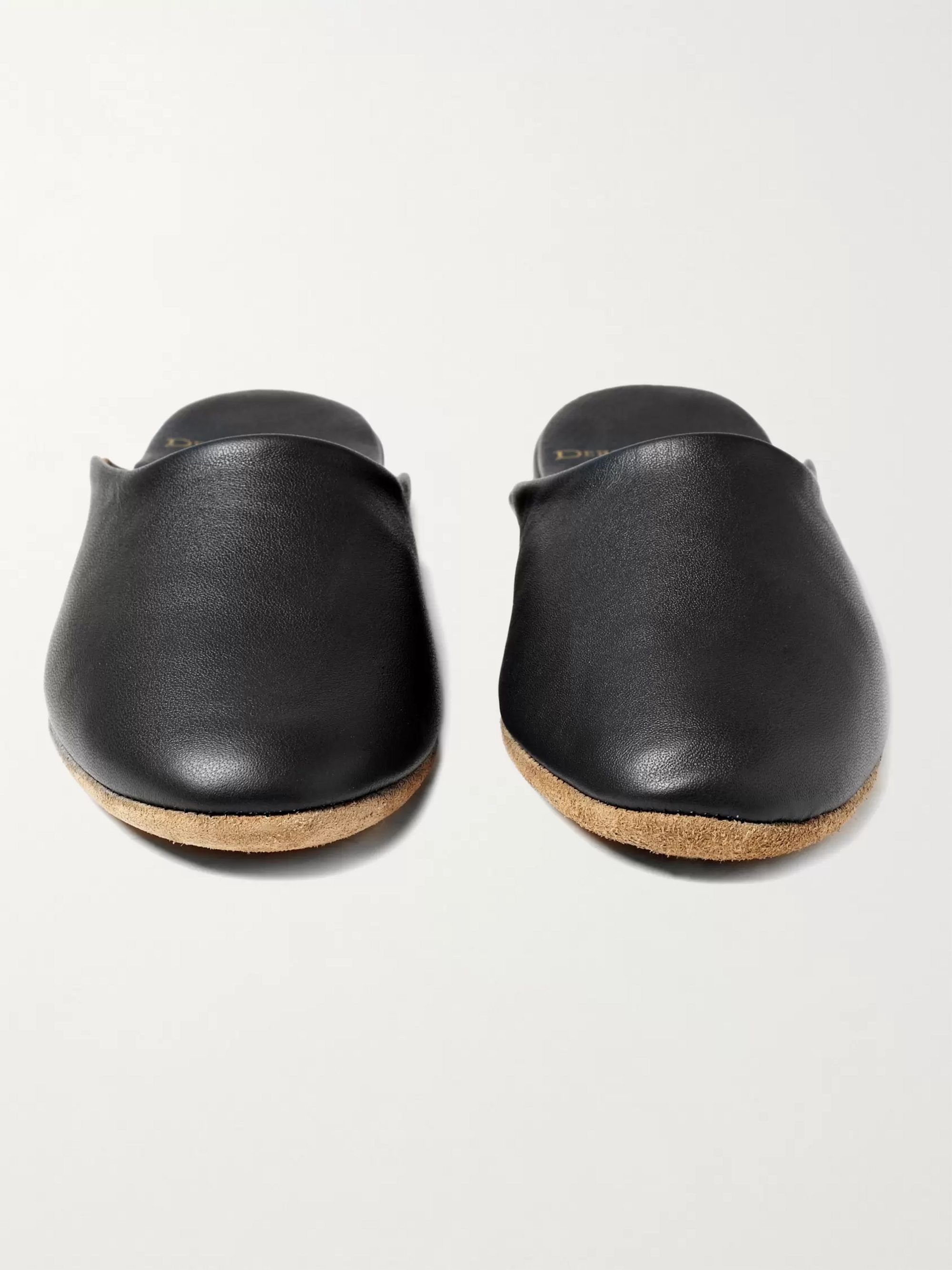 Derek Rose Morgan Leather Slippers