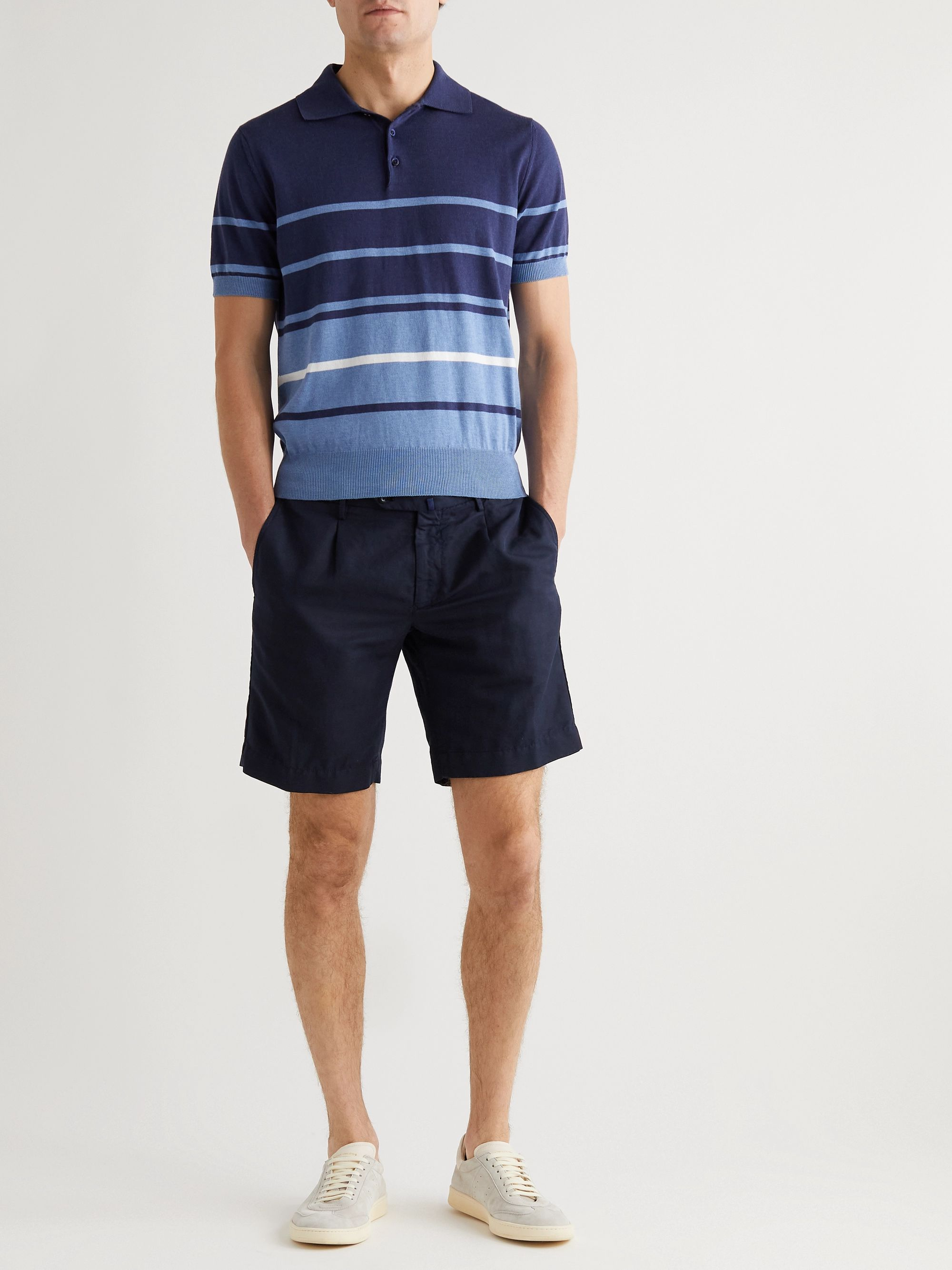 Incotex Slim-Fit Linen and Cotton-Blend Shorts