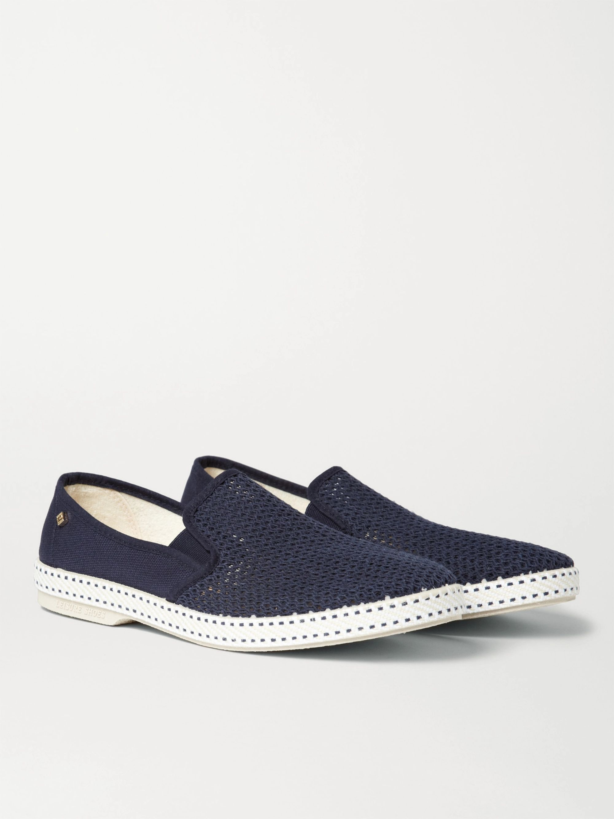 Cotton Mesh And Canvas Espadrilles by Rivieras