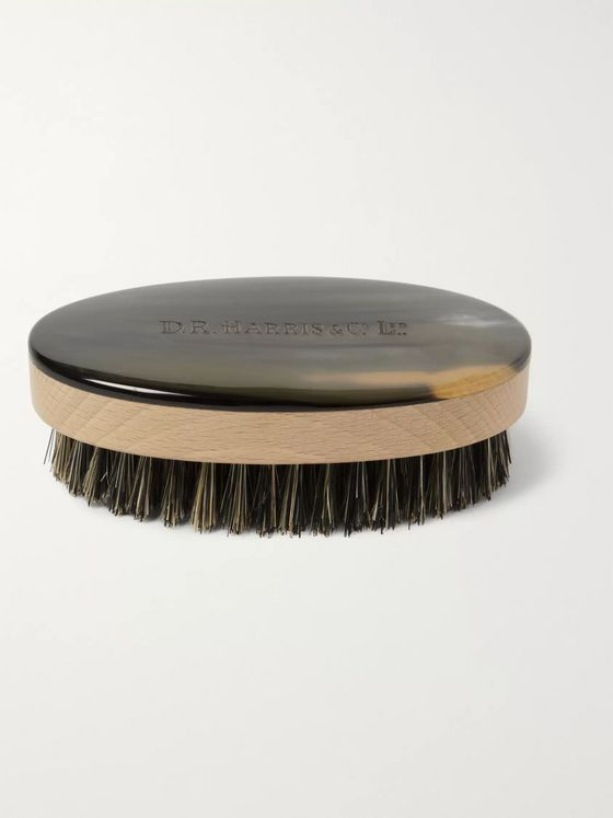 D R Harris Abbeyhorn Boar-Bristle Hairbrush