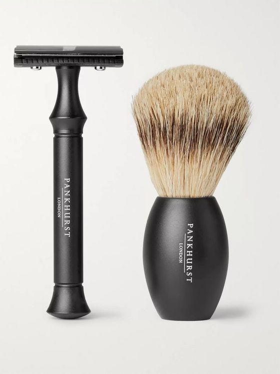 Pankhurst London Razor and Brush Set
