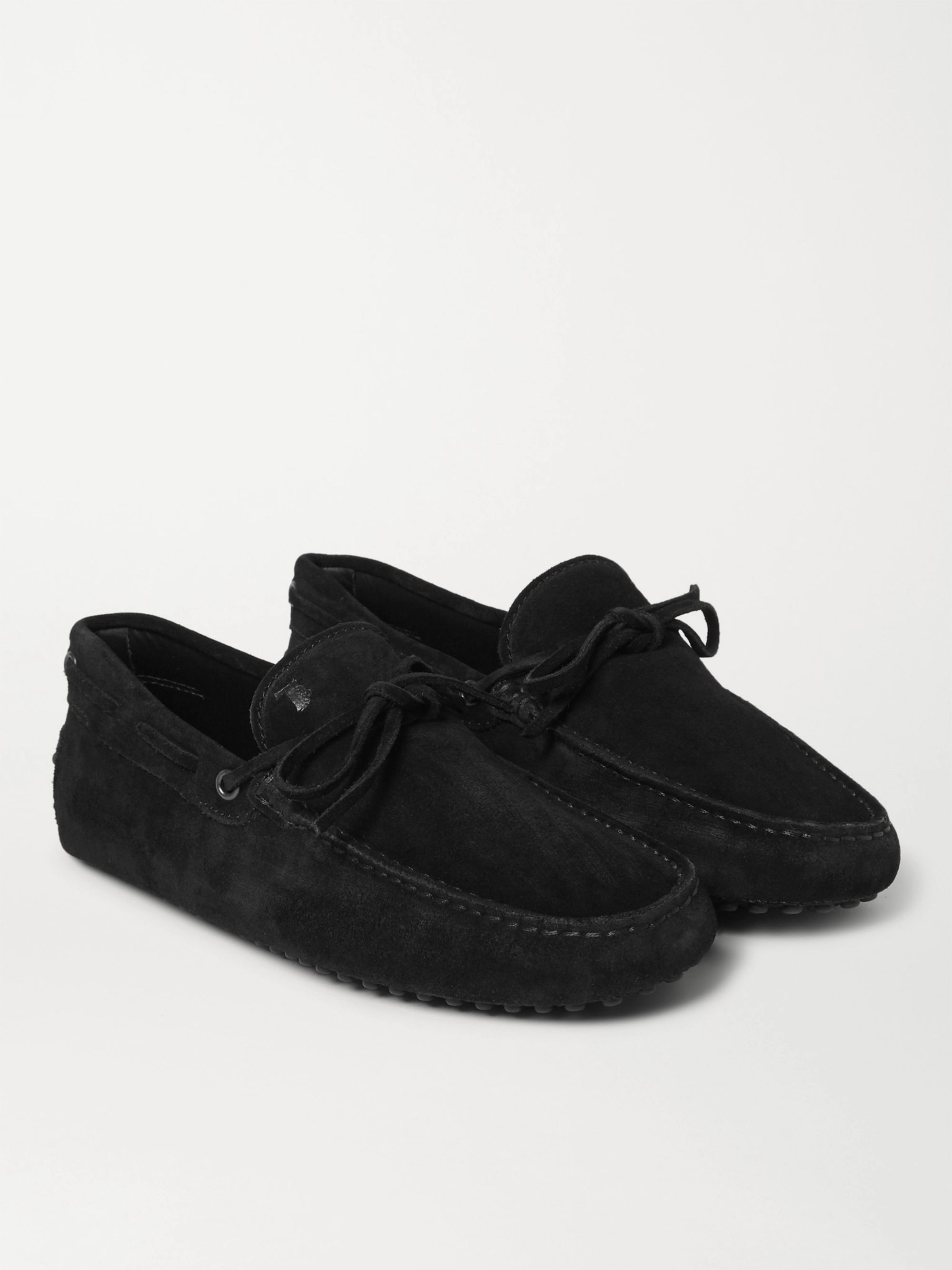 Black Gommino Suede Driving Shoes   Tod