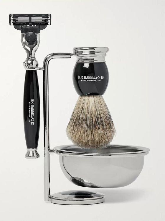 D R Harris Ebony Shaving Set