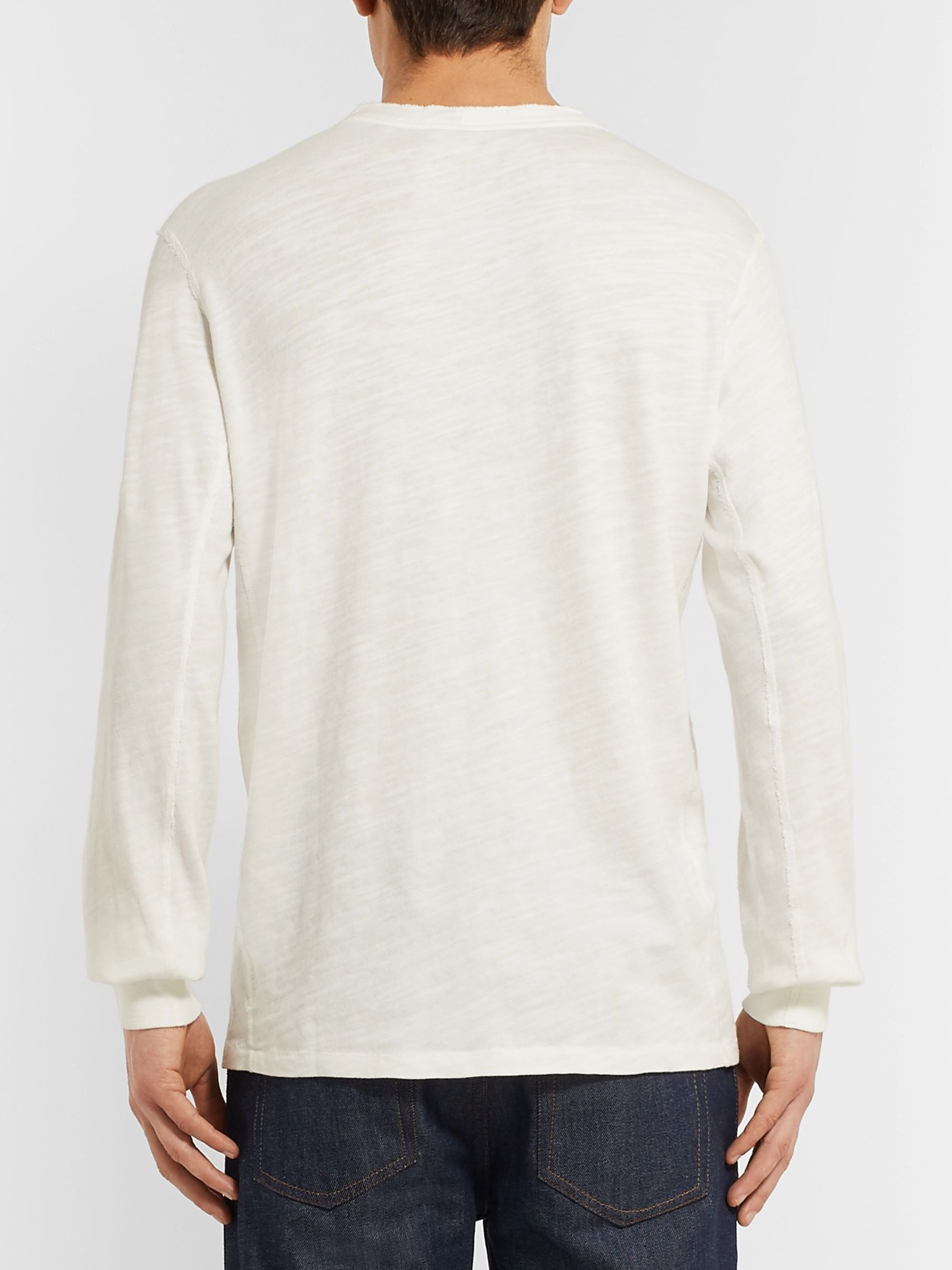 rag & bone Slim-Fit Mélange Cotton-Blend Jersey Henley T-Shirt