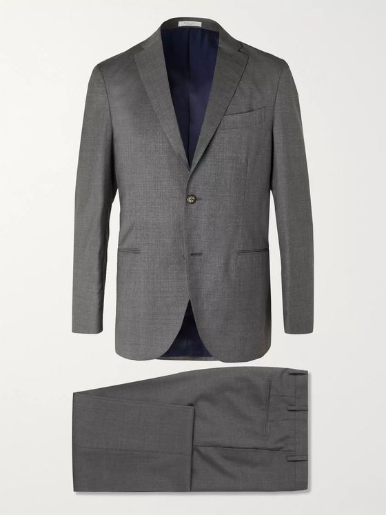 Boglioli Blue Dover Slim-Fit Virgin Wool Suit