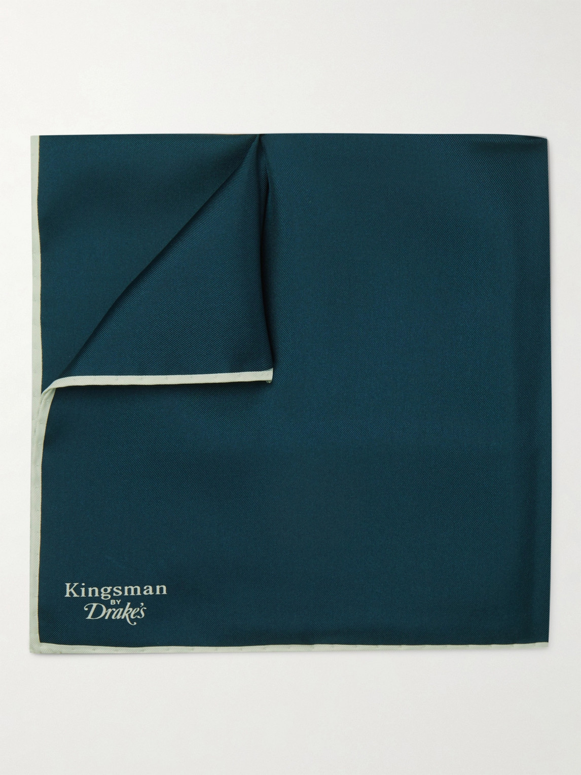 Kingsman Drake's Silk Pocket Square In Blue