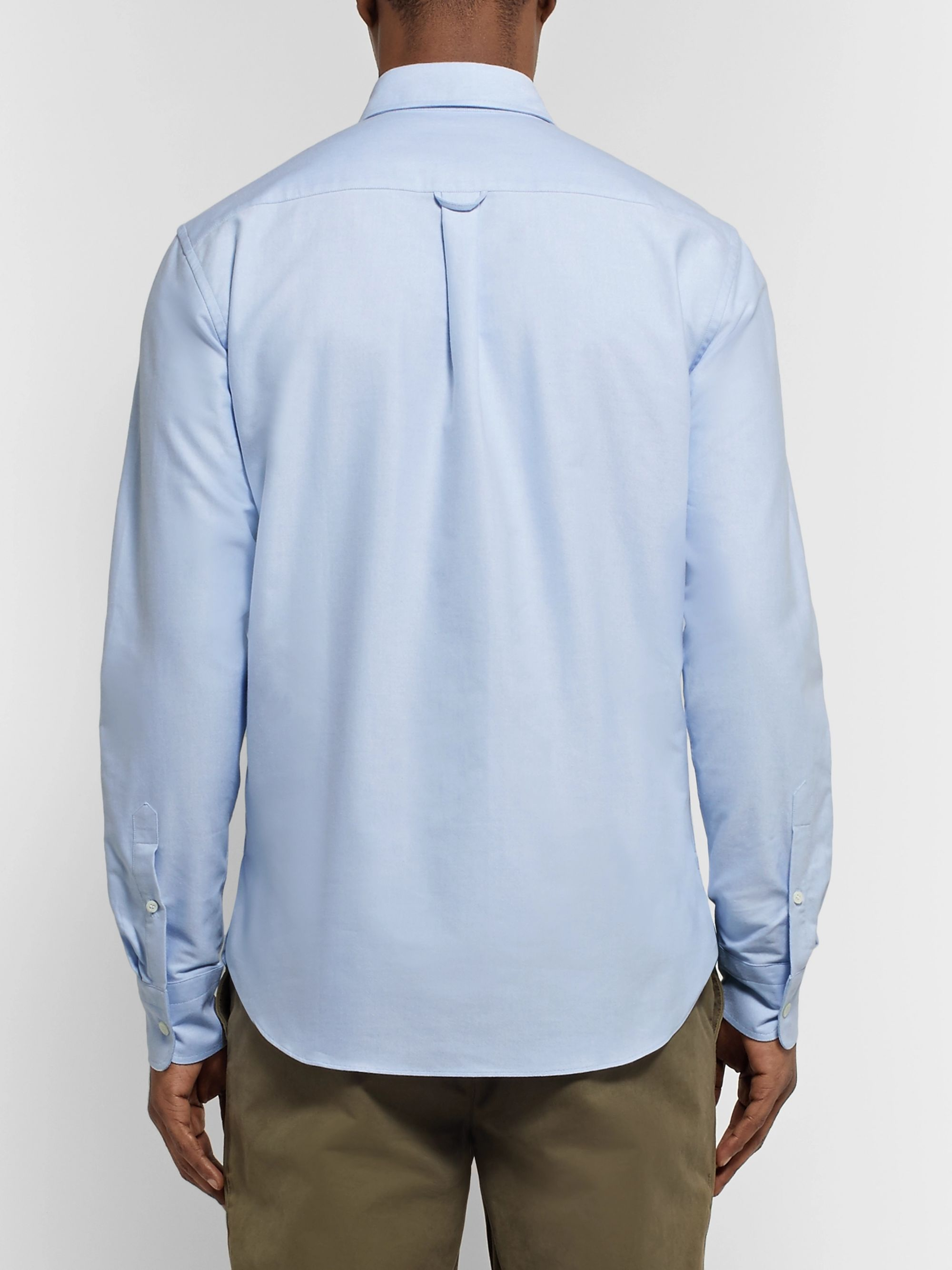 Maison Kitsuné Slim-Fit Button-Down Collar Cotton Oxford Shirt