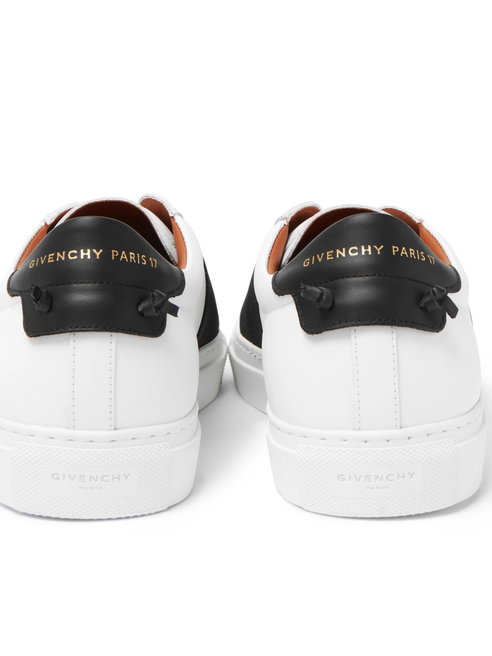 Elasticated Strap Leather Sneakers