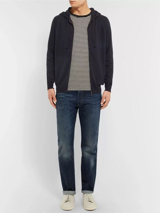 John Smedley Reservoir Merino Wool Zip-Up Hoodie
