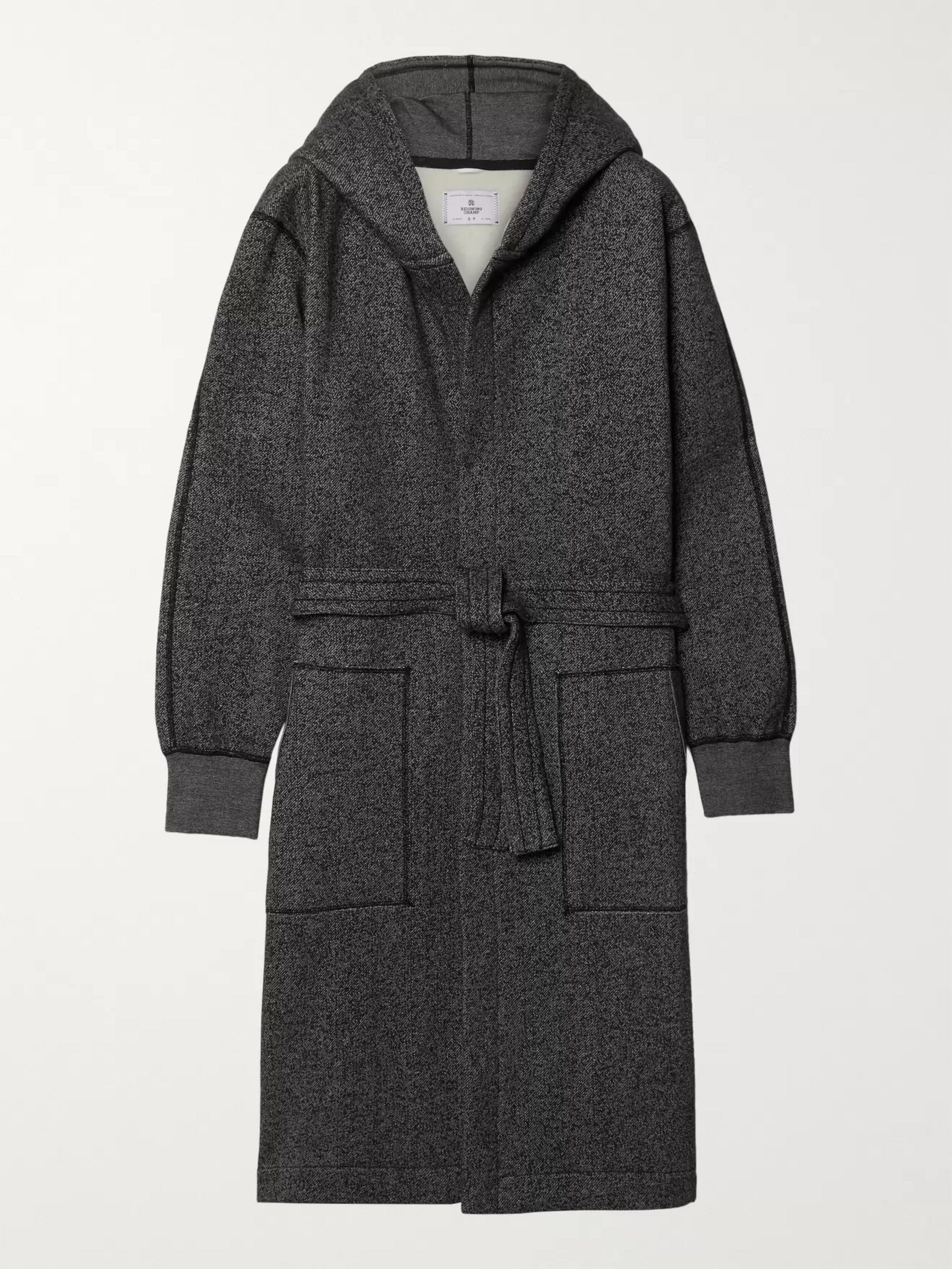 Reigning Champ Fleece-Back Cotton-Jersey Hooded Robe