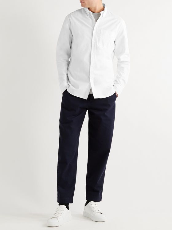 Mr P. Button-Down Collar Cotton Oxford Shirt
