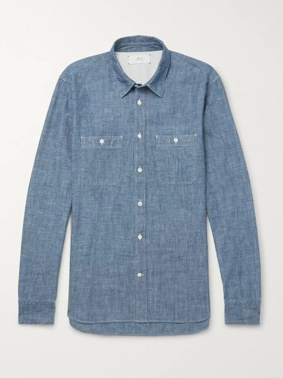 Mr P. Selvedge Cotton-Chambray Shirt