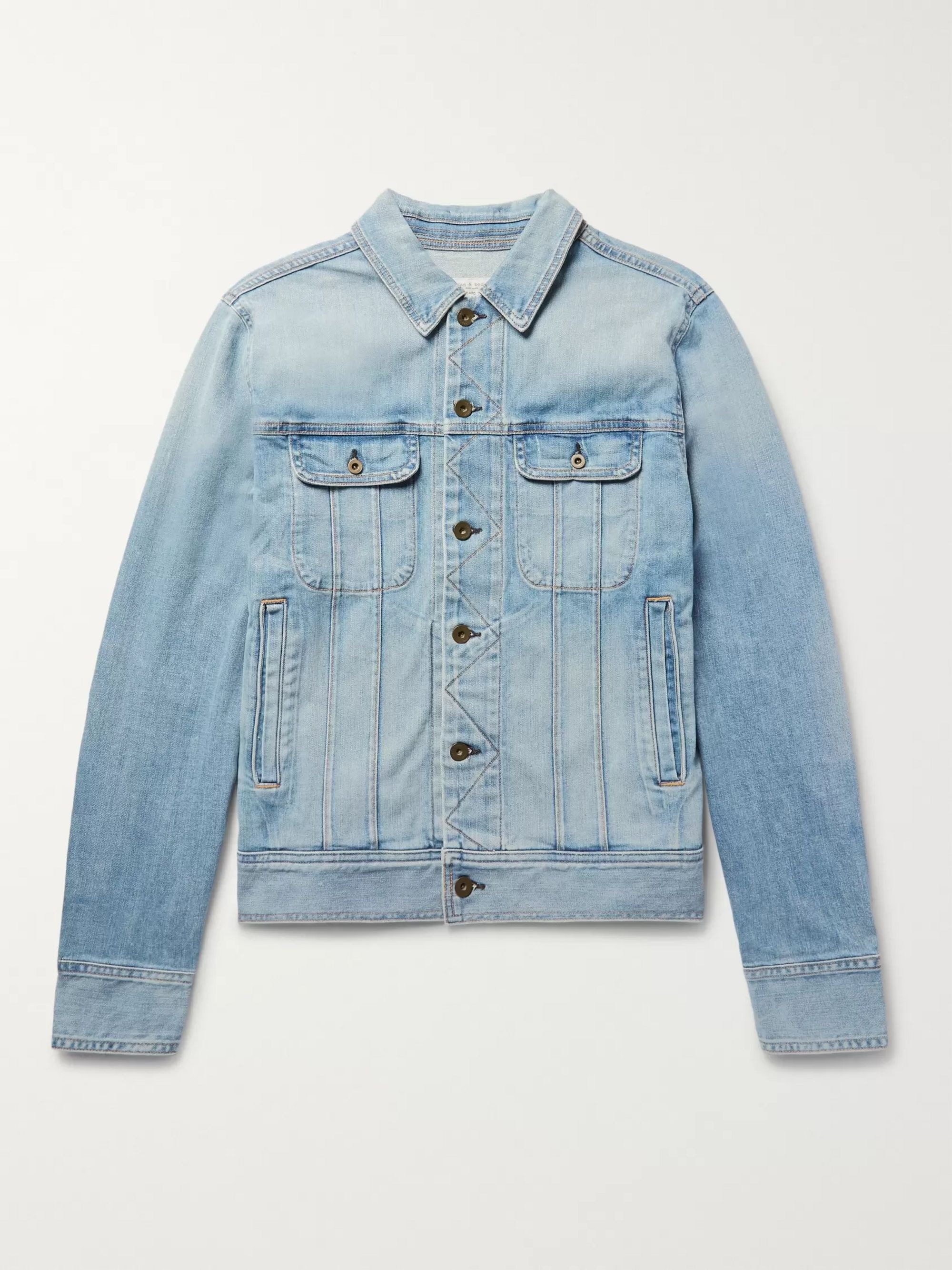 coupon codes cute select for genuine Faded Denim Jacket