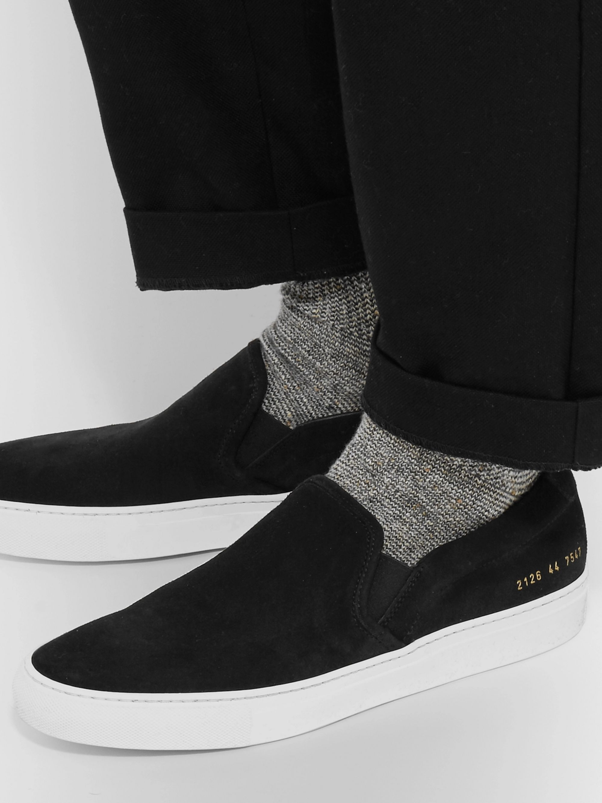 well known buy popular 50% off Suede Slip-On Sneakers