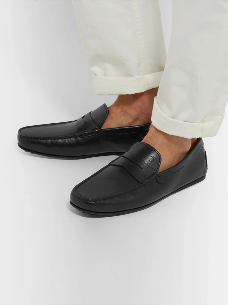 Tod's City Gommino Leather Penny Loafers