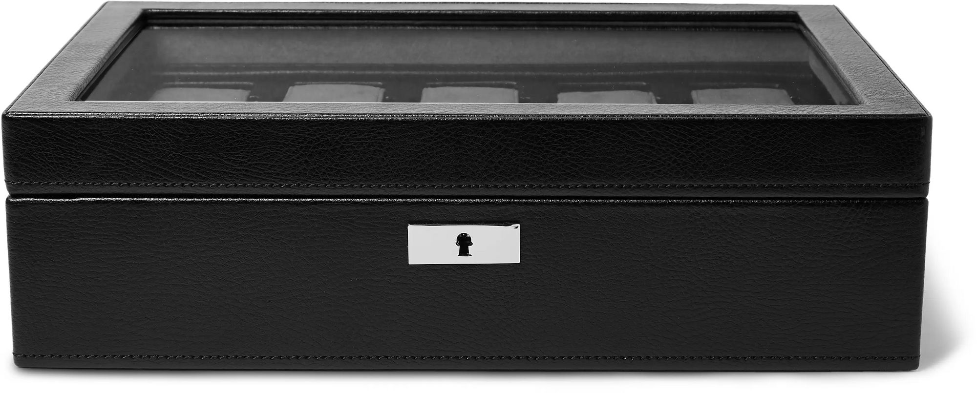 WOLF Howard 7-Piece Leather Watch Box