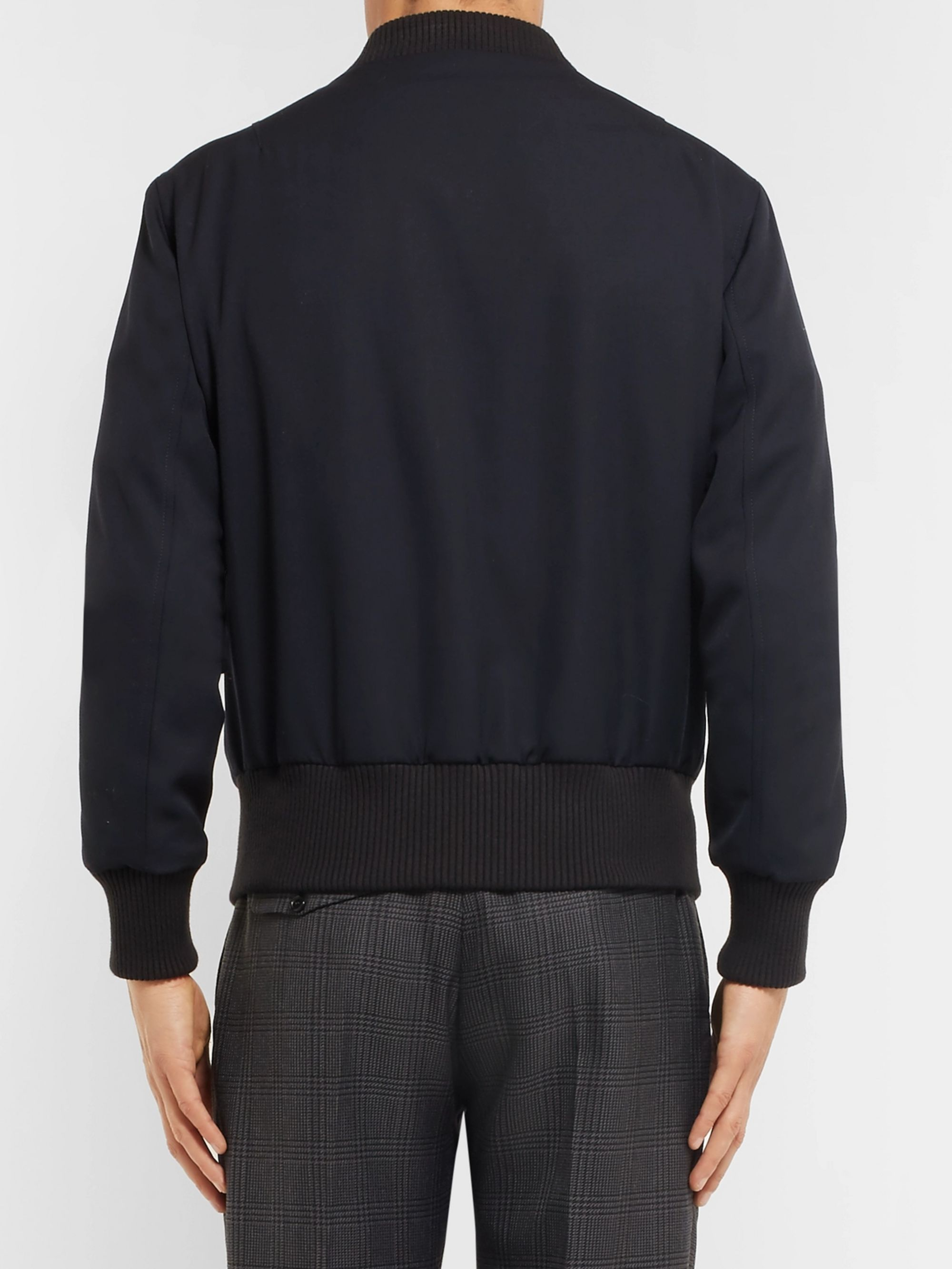AMI Slim-Fit Wool Bomber Jacket