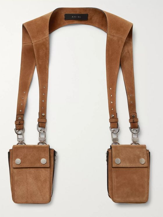 AMIRI Suede Harness Bags
