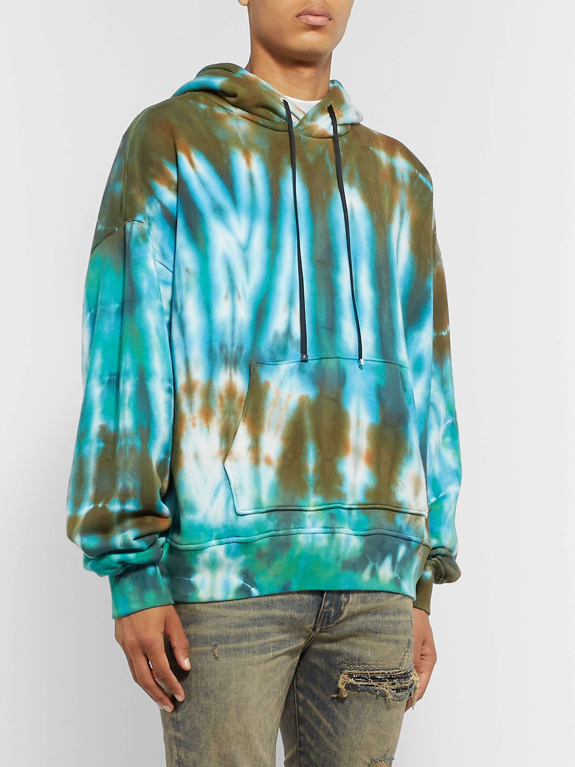 AMIRI Oversized Tie-Dyed Loopback Cotton-Jersey Hoodie