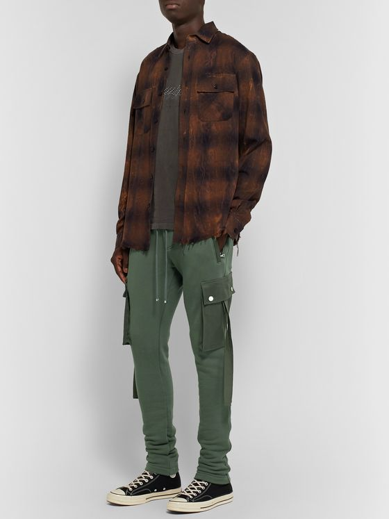 AMIRI Slim-Fit Tapered Cotton-Jersey Cargo Sweatpants