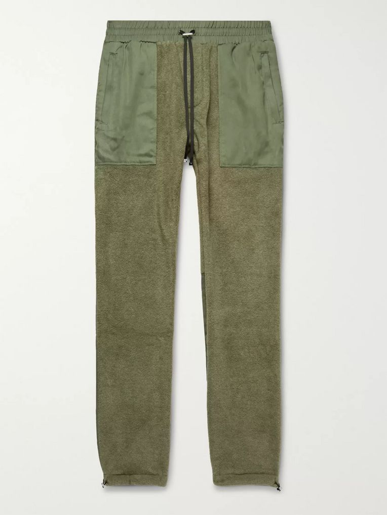 1ae35e4357 Slim-Fit Tencel-Panelled Fleece Drawstring Trousers