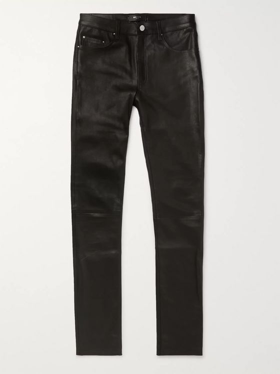 AMIRI Skinny-Fit Leather Trousers