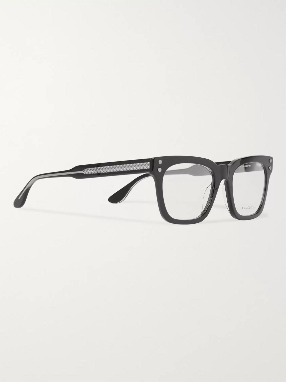 Bottega Veneta Opticals SQUARE-FRAME ACETATE OPTICAL GLASSES