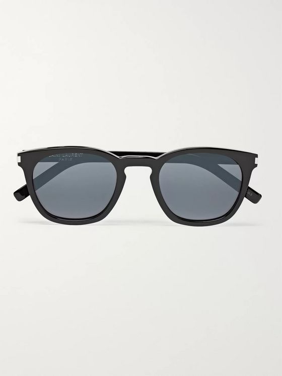 SAINT LAURENT Round-Frame Acetate Sunglasses