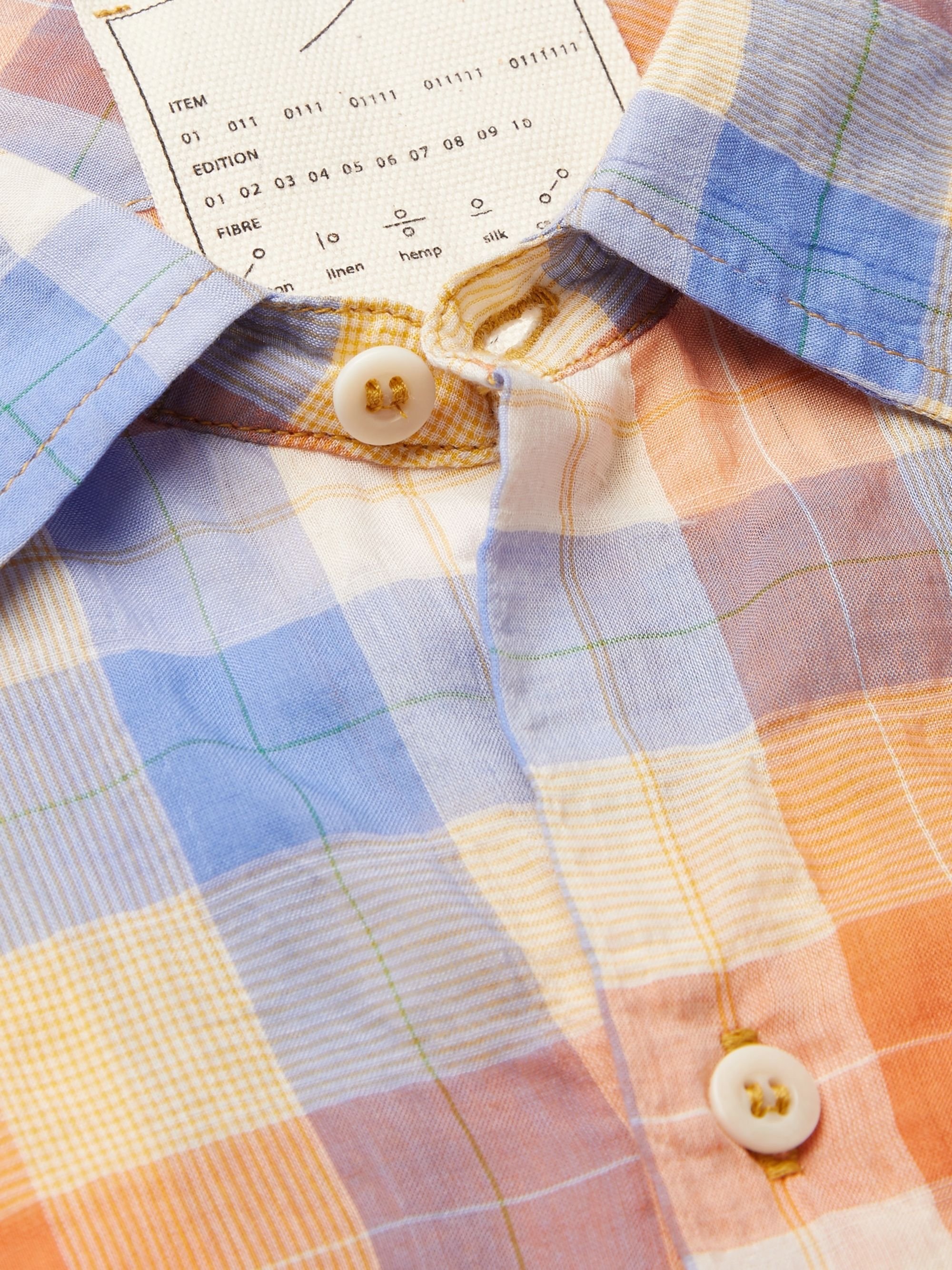 Tempus Now Checked Organic Cotton-Voile Shirt