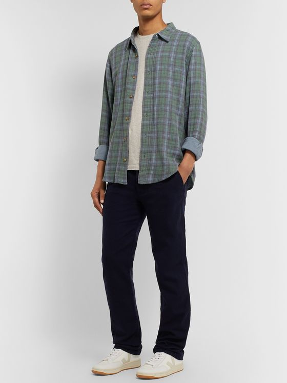 Tempus Now Checked Organic Cotton-Flannel Shirt