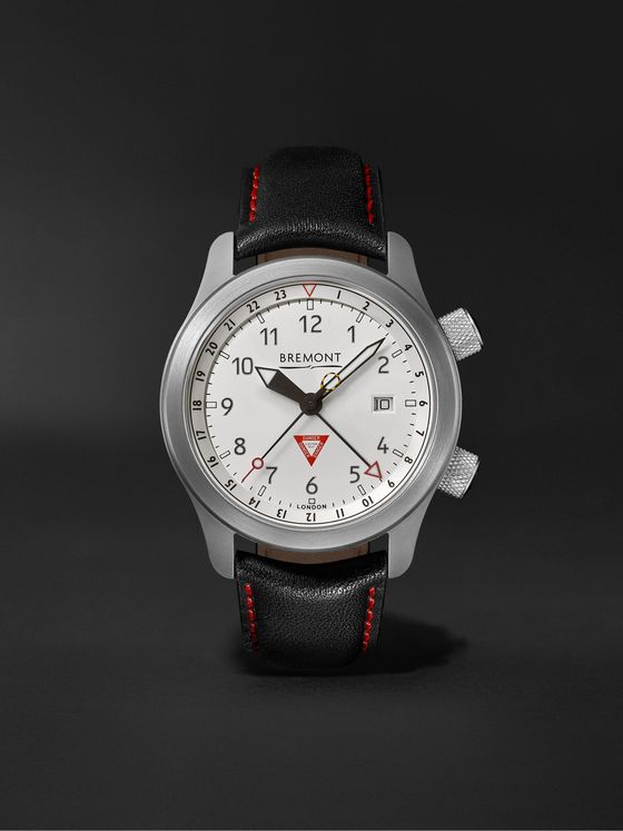 Bremont MBIII GMT 10th Anniversary Limited Edition Automatic Chronometer 43mm Stainless Steel and Leather Watch
