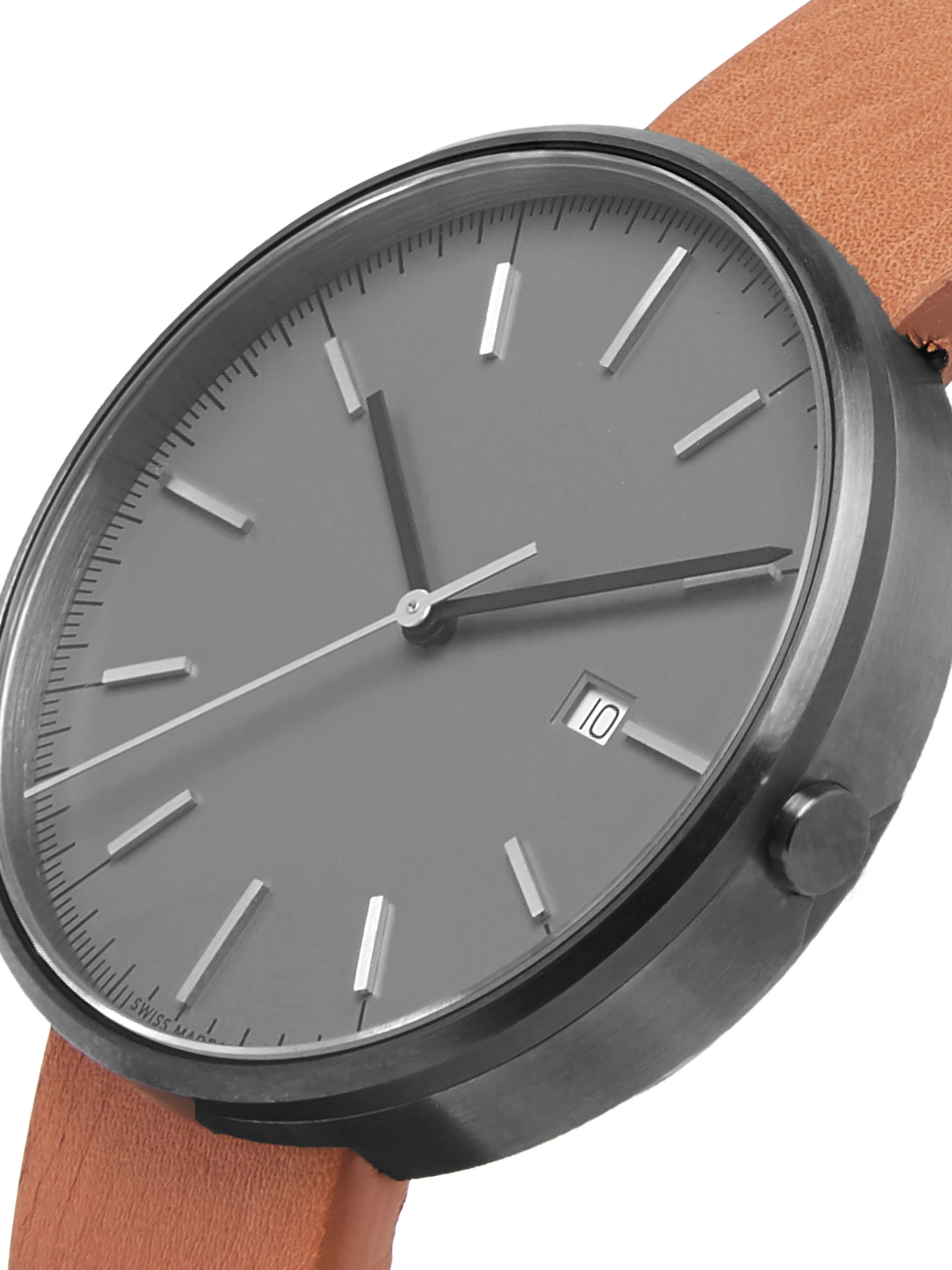 Uniform Wares M40 PreciDrive Stainless Steel and Leather Watch