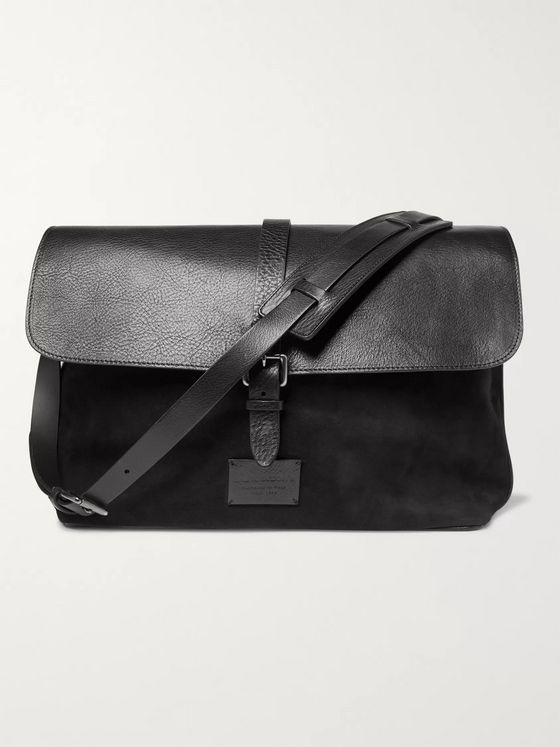 Anderson's Suede and Leather Messenger Bag