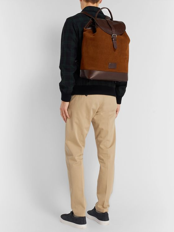 Anderson's Leather and Suede Backpack