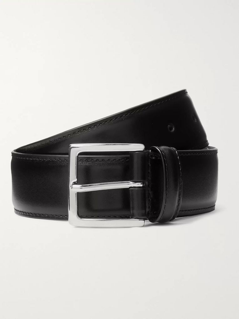 Anderson's 4cm Black Leather Belt