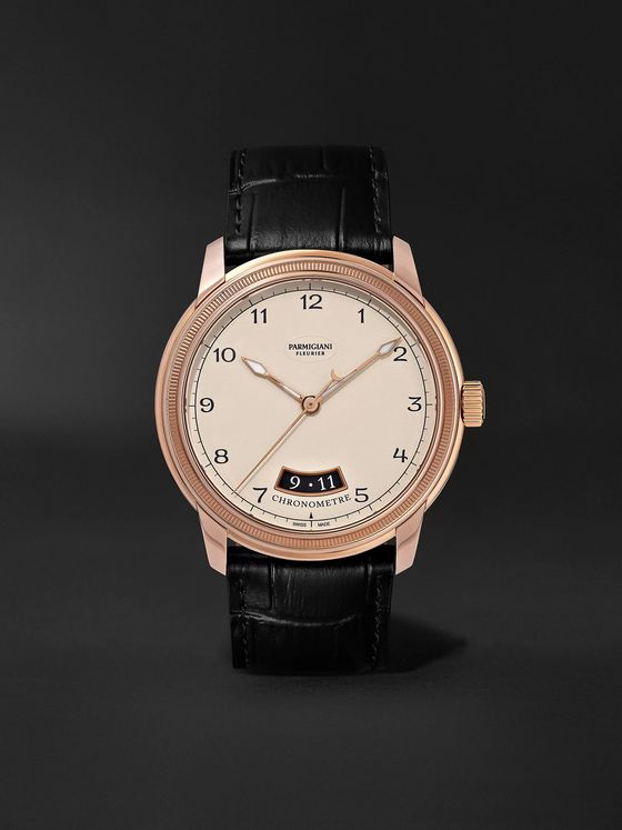 Parmigiani Fleurier Toric Automatic Chronometer 40.8mm Rose Gold and Alligator Watch