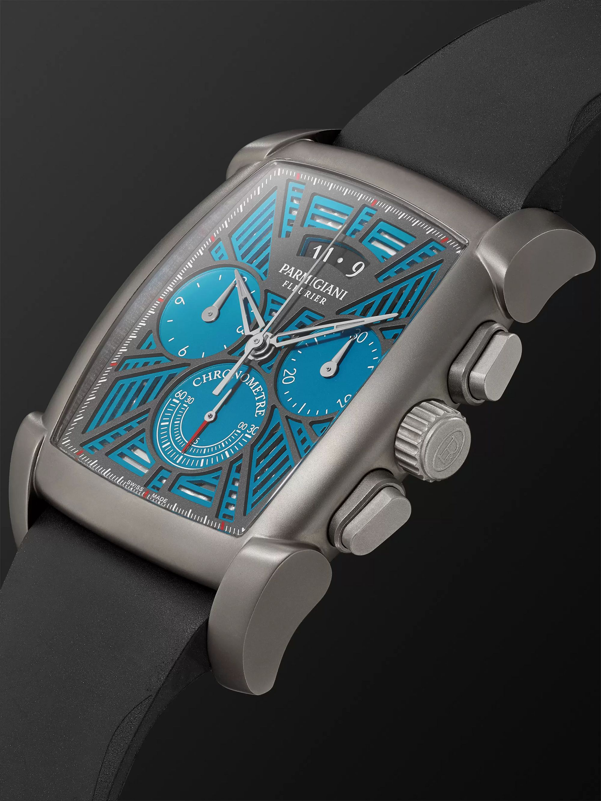 Parmigiani Fleurier Kalpagraphe Limited Edition Chronograph 48mm Titanium and Rubber Watch