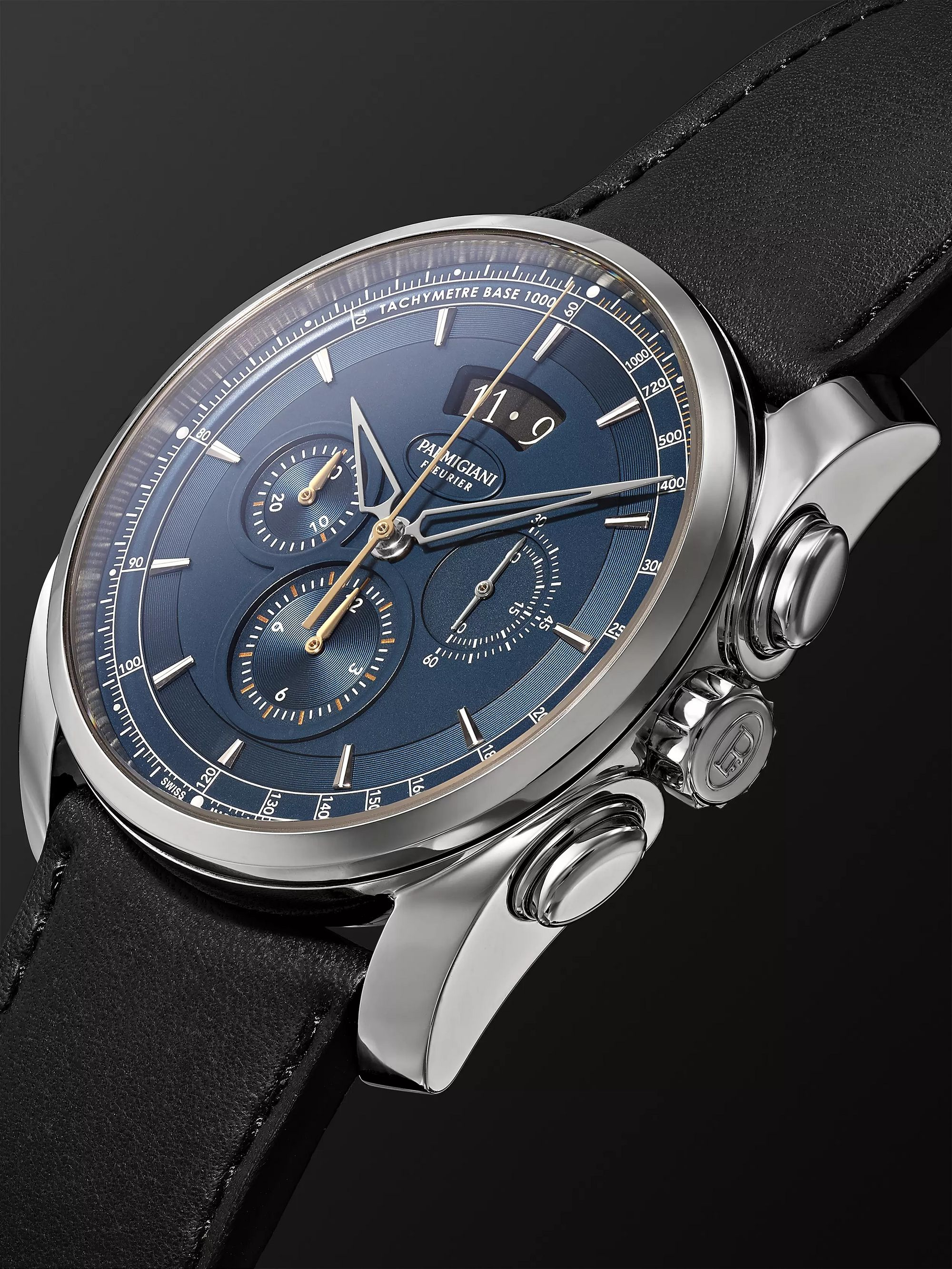 Parmigiani Fleurier Tonda Metrographe 40mm Stainless Steel and Leather Watch