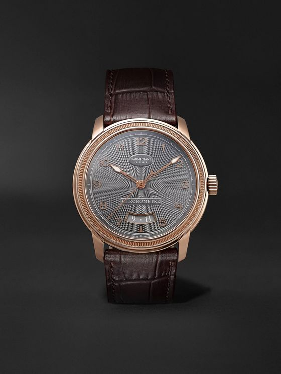 Parmigiani Fleurier Toric Automatic Chronometer 40.8mm 18-Karat Red Gold and Alligator Watch