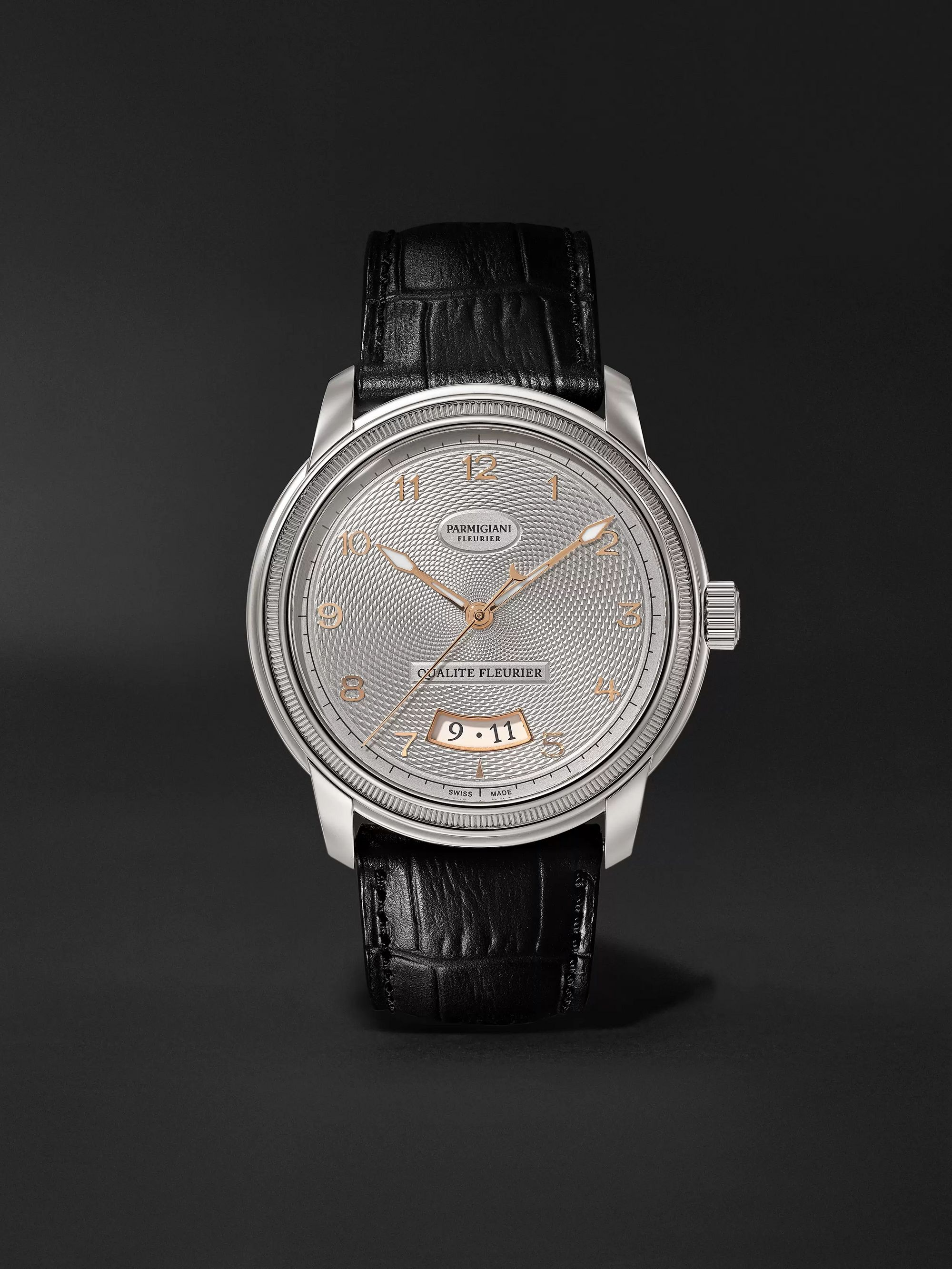 Parmigiani Fleurier Toric Qualité Fleurier Automatic 40.8mm 18-Karat White Gold and Alligator Watch