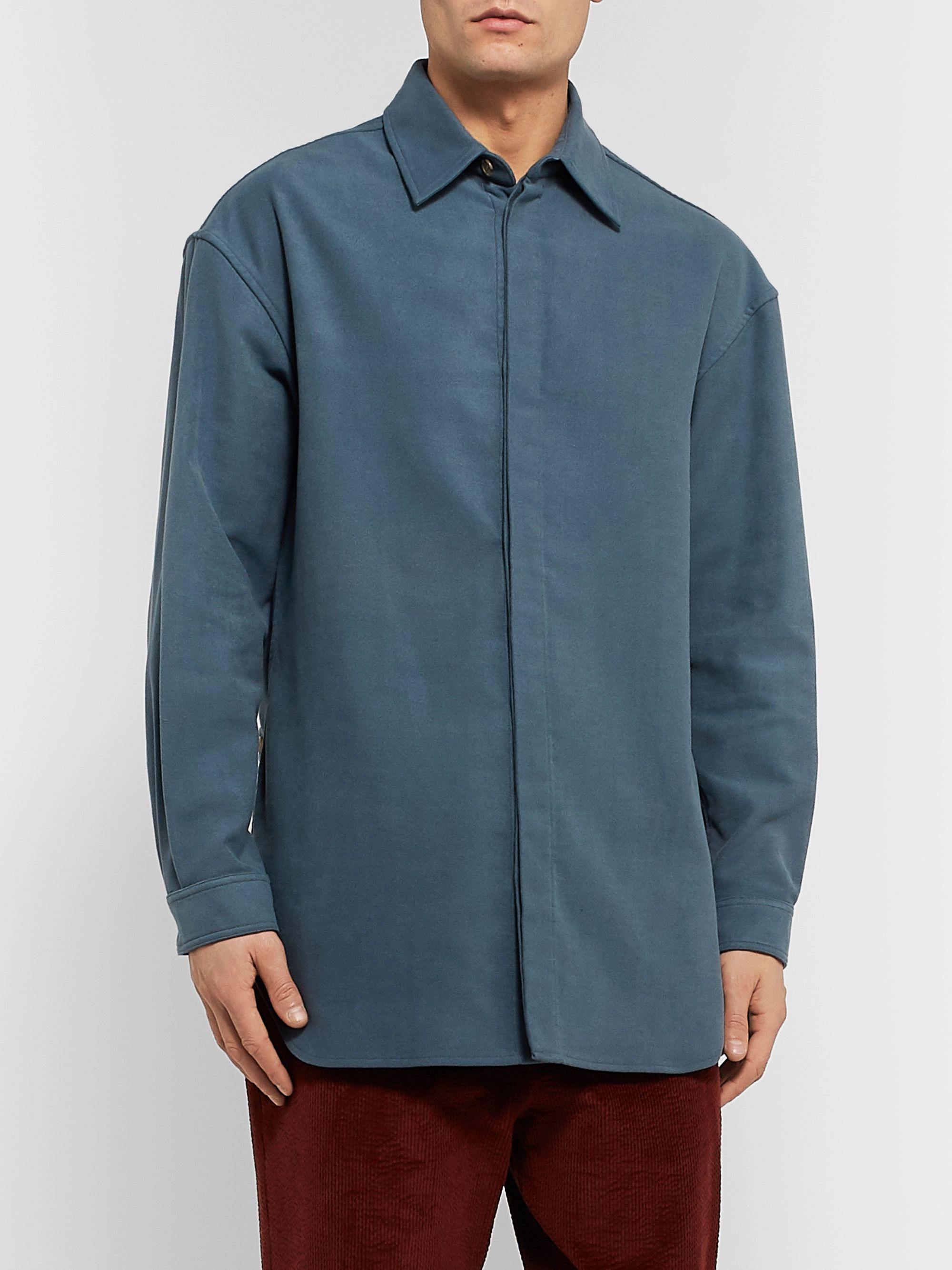 Deveaux Modal and Cotton-Blend Shirt