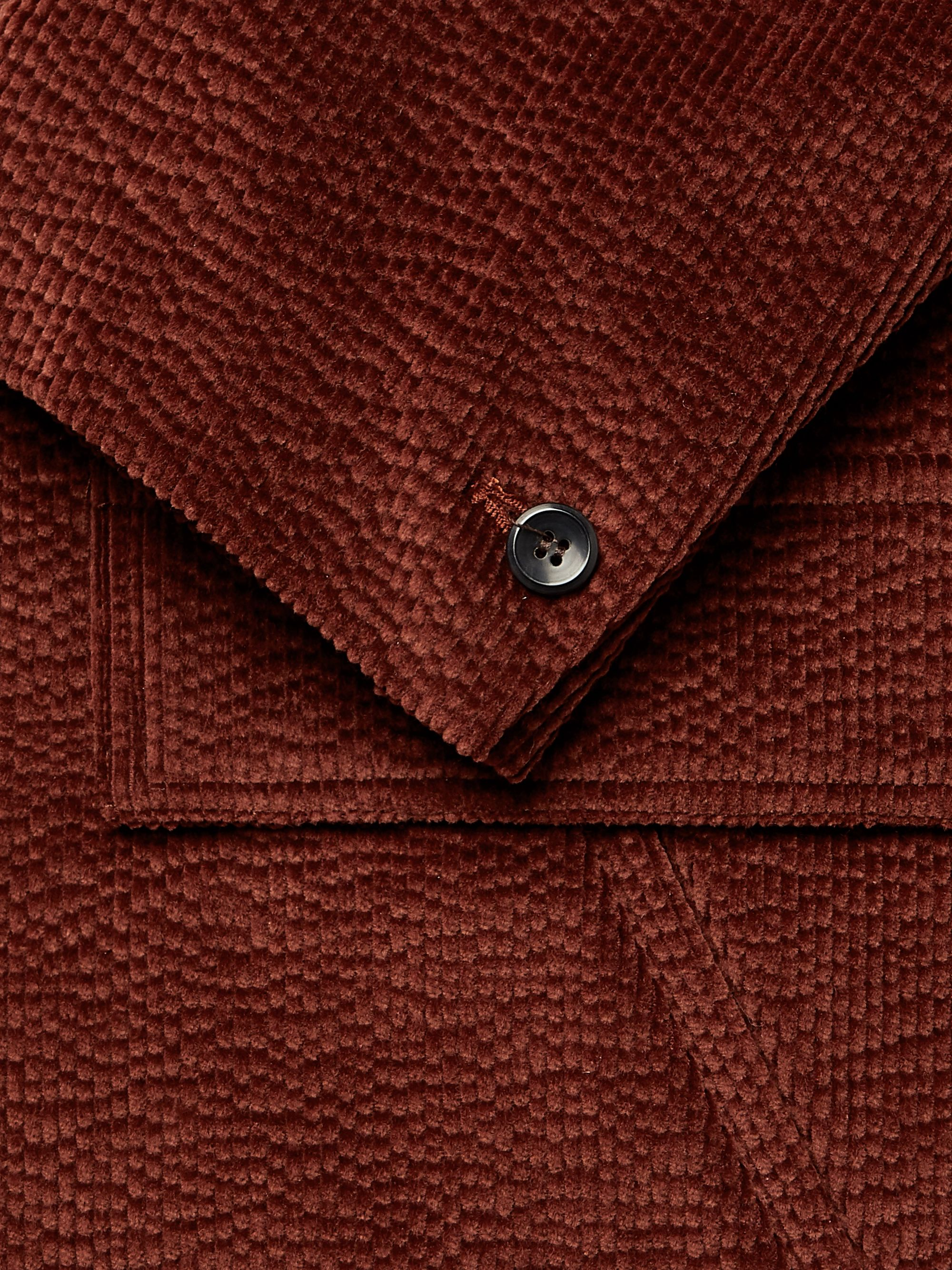 Deveaux Burgundy Cotton-Blend Corduroy Blazer