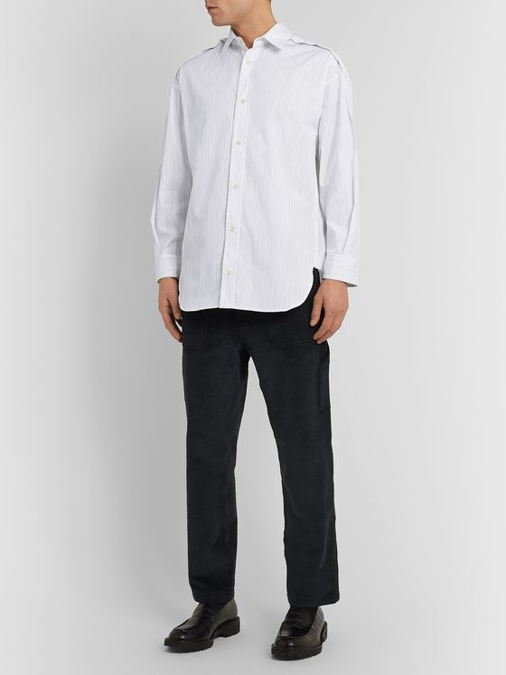 Deveaux Striped Cotton Shirt