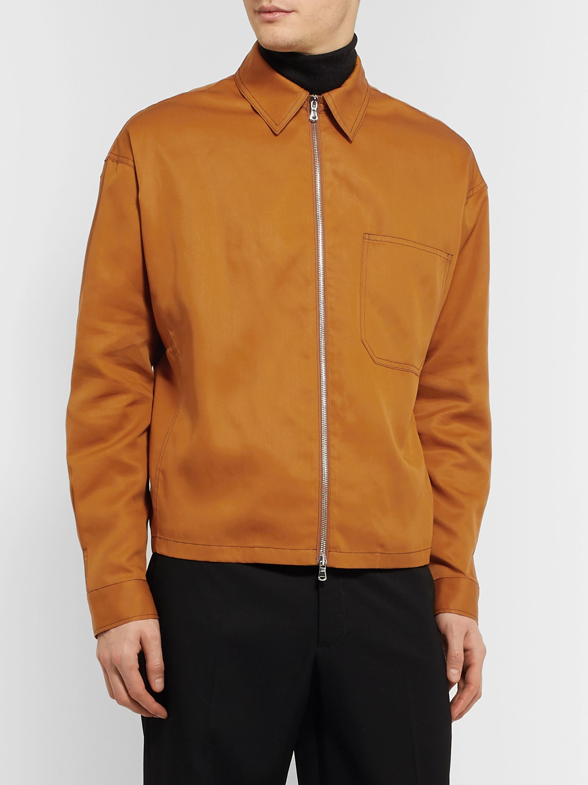 Deveaux Tencel Zip-Up Overshirt