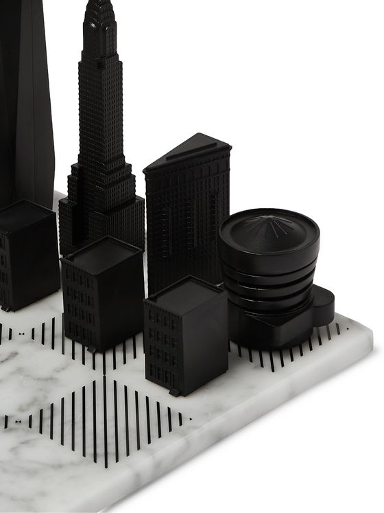 Skyline Chess New York City Marble and Acrylic Chess Set