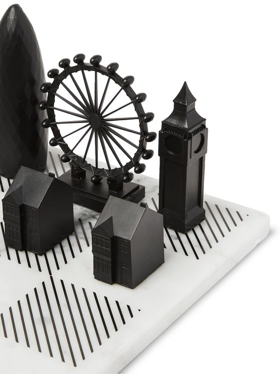 Skyline Chess London Marble and Acrylic Chess Set