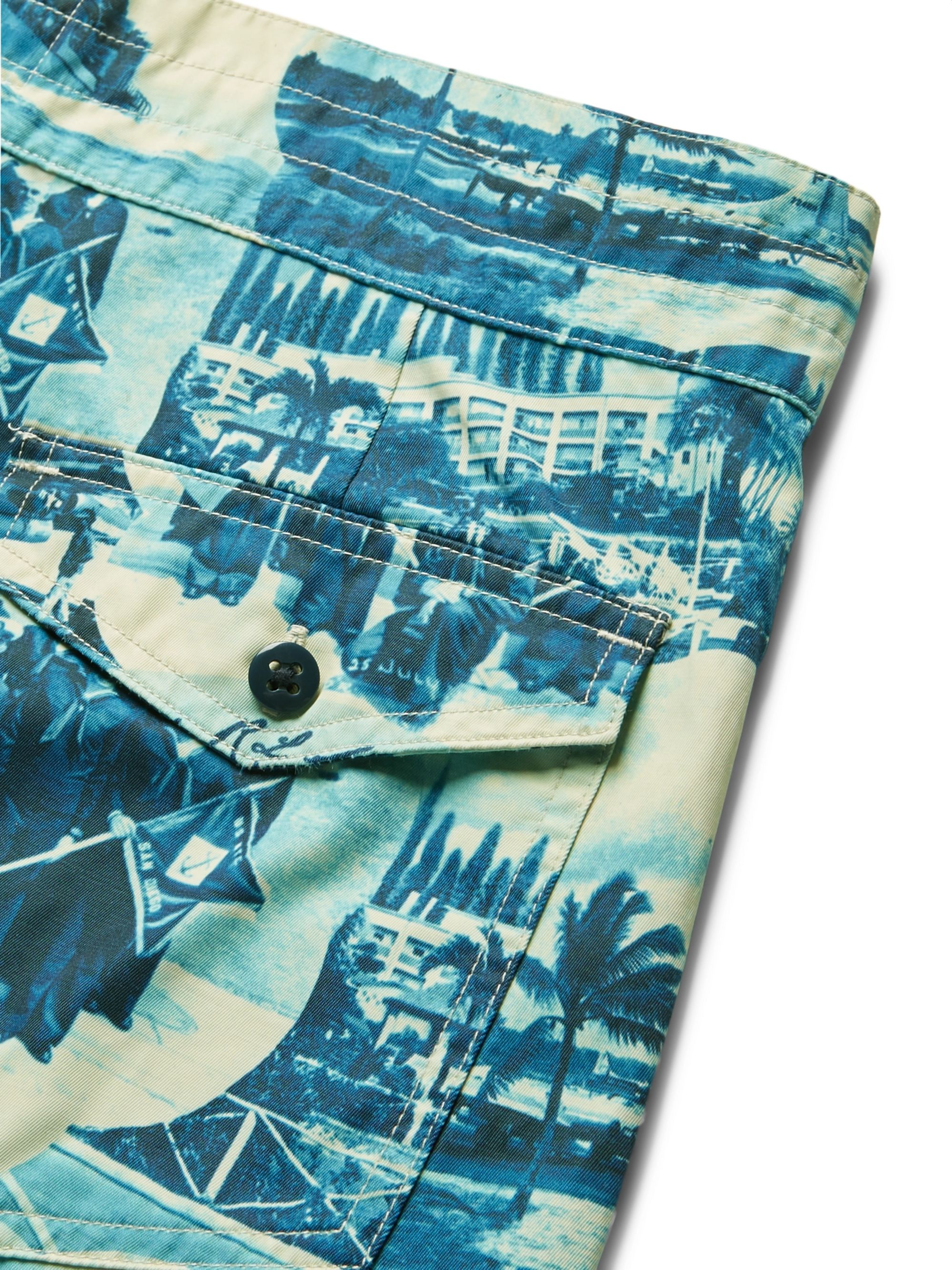 RRL Long-Length Printed Swim Shorts