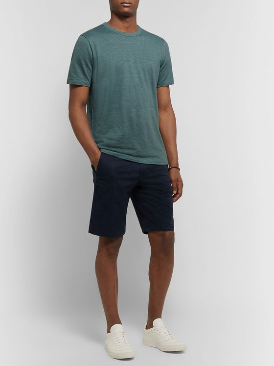Theory Essential Mélange Stretch-Linen T-Shirt