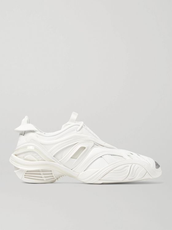 BALENCIAGA Tyrex Rubber, Mesh and Faux Leather Sneakers